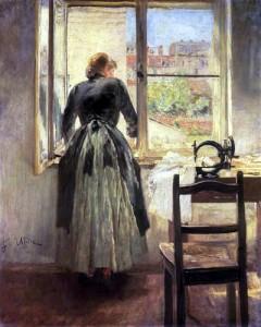 Fritz von Uhde_Dressmaker at the Window 1890