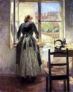 Fritz von Uhde_Dressmaker at the Window 1890
