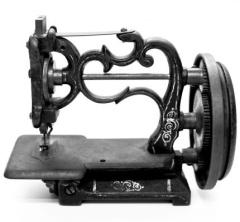 Hand crank machine circa 1875