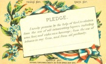 Alcohol WCTU pledge card