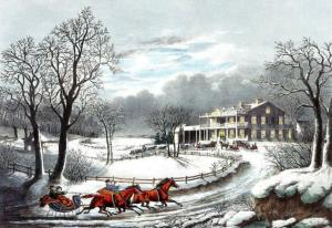 Interrupted_Sleigh Currier and IVes 1850 edited