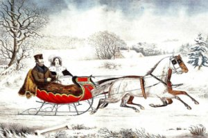 Interrupted_Sleigh Currier and Ives edited