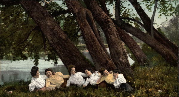 Fun along Chautauqua Lake in 1909