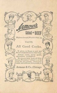 Armours Extract trade card 1896 back