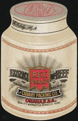 Cudahy's Rex Brand Fluid Beef trade card front