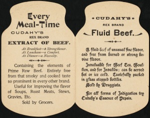 Cudahy's Rex Brand Fluid Beef trade card interior