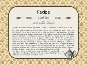 Recipe Beef Tea