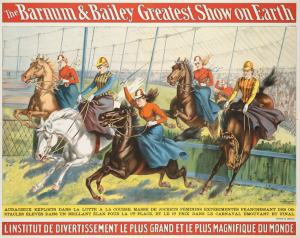 Circus Poster - Lady Equestrians