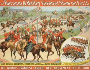 Circus Poster - Equestrian Maypole