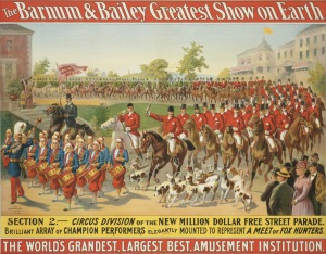 Circus Poster - Parade through town