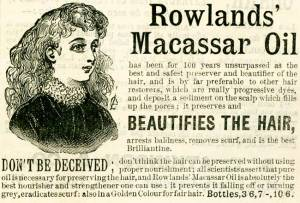 Macasar Oil ad 1895