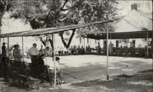 Image of shuffleboard players at the Chautauqua Sports Club about 1920