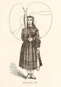 Image of a woman demonstrating an Indian Club Exercise
