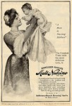 Image of a magazine ad for Malt-Nutrine showing woman holding a baby.