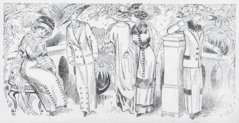 Fashion Retailer's newspaper ad for spring coats 1911