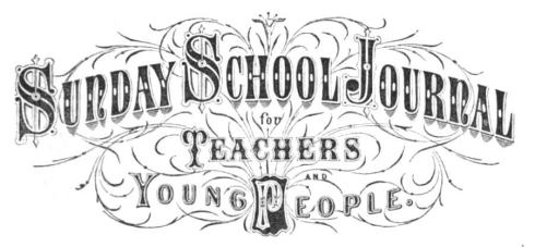 Banner for Sunday School Journal 1883