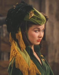 The famous jockey hat worn by Scarlett O'Hara in Gone with the Wind.