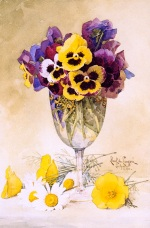 Pansies by Paul de Longpre 1900