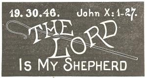 """Example of a simple but artistic way to write """"The Lord is my shepherd"""" in chalk on the blackboard"""