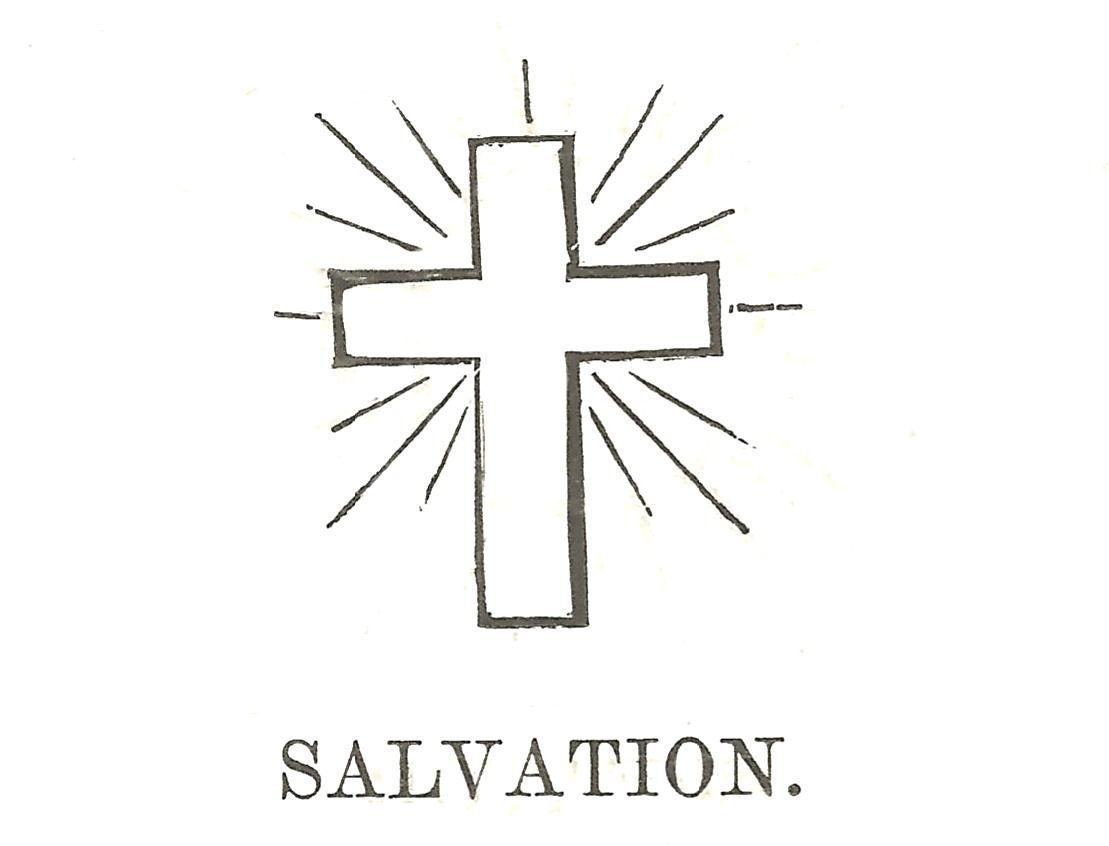 Christian symbols isabella alden drawing of a cross with the word salvation written buycottarizona Choice Image