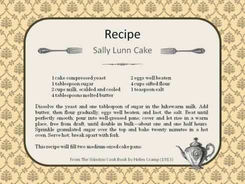 Sally Lunn Cake Recipe