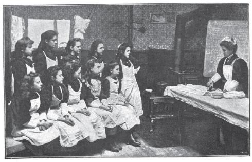 A 1910 Laundry Class for Girls