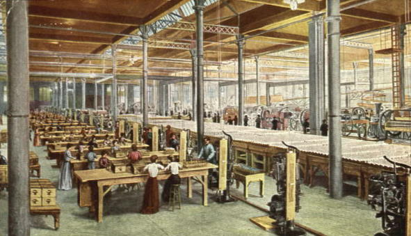 Women working at the Anheuser Busch Bottling Company
