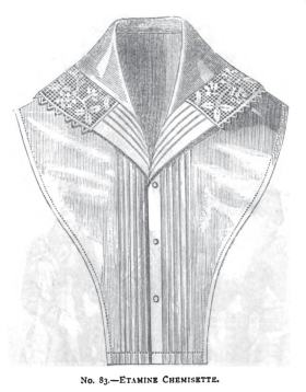 A Chemisette with Lace and Fluting, ca. 1882