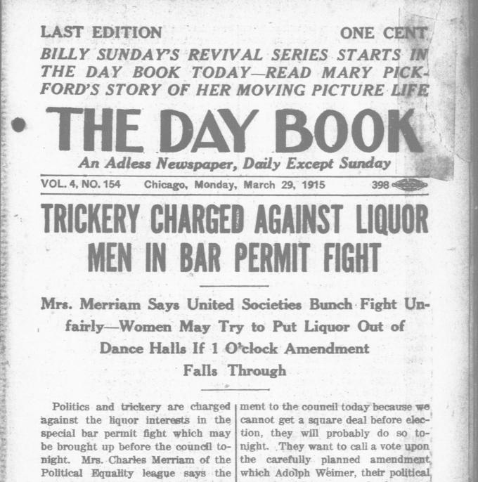 The Chicago Day Book announced Billy Sunday's written sermons with the same enthusiasm it gave an interview with Mary Pickford