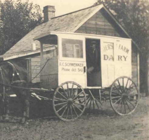 Dairy delivery wagon