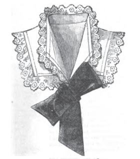 An 1882 illustration of a linen and lace collar
