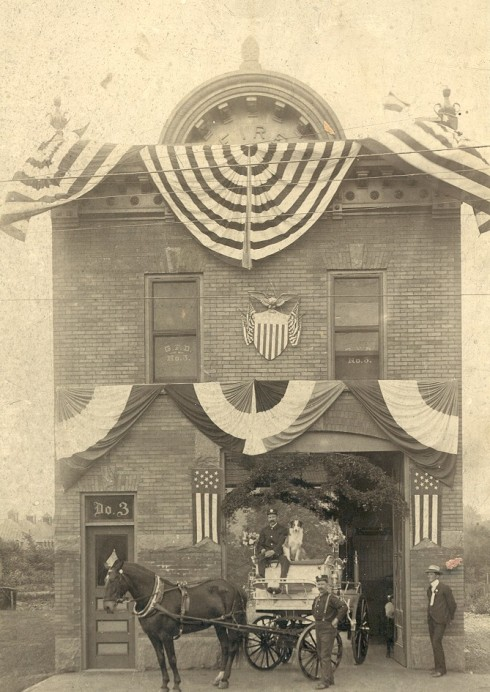 1903 photo of Gloversville Fire Station No. 3