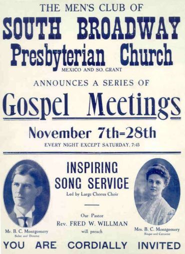 Gospel Meeting announcement