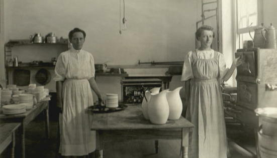 Cooks in the kitchen of a private home.