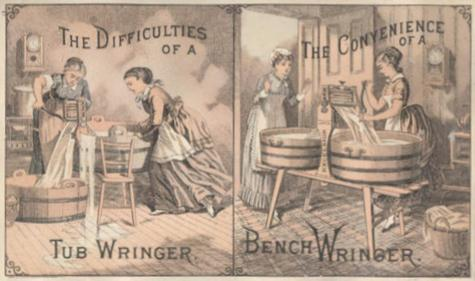 Trade card from the 1880s