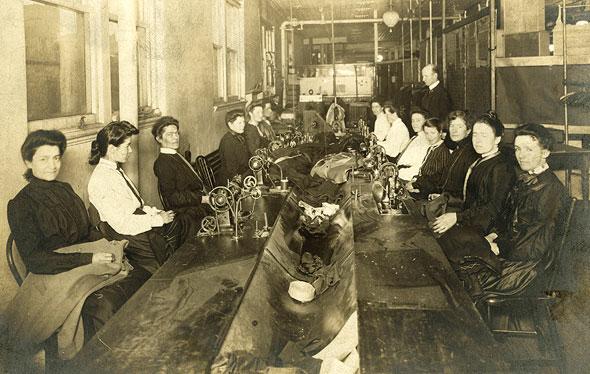 Seamstresses at Eaton's Department Store, Toronto