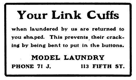 A 1905 Street Car advertisement