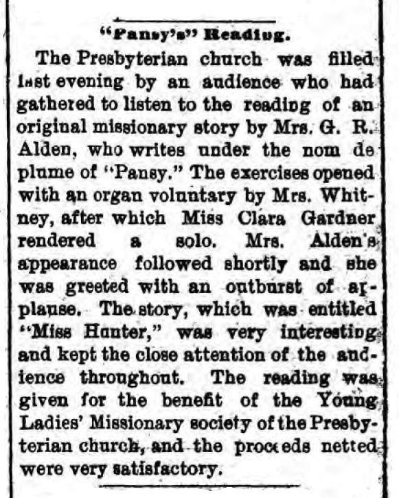 "From the Gloversville, New York ""Daily Leader,"" September 18, 1895"