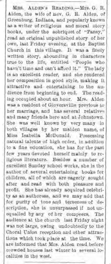 Gloversville NY Intelligencer 1878 detail
