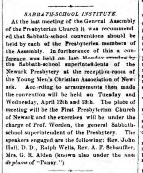 The Bloomfield NJ Record_March 11 1882