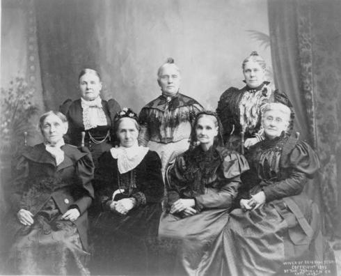 An 1899 photograph of seven of Brigham Young's Wives