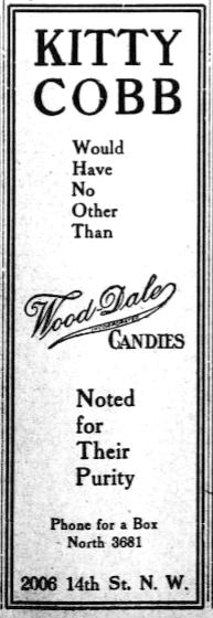 Ad 1 in Washington Herald Aug 11 1912