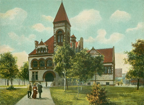 Public Library in Dayton, Ohio, 1906