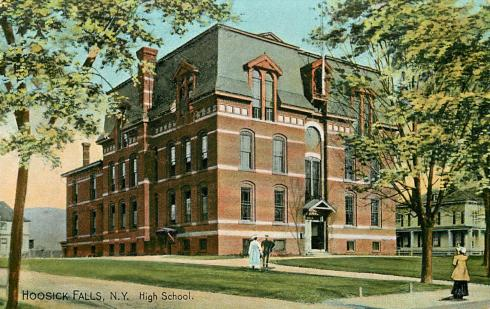 A high school in Hoosick Falls, New York, 1907