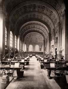 Interior of the Boston Public Library, 1896