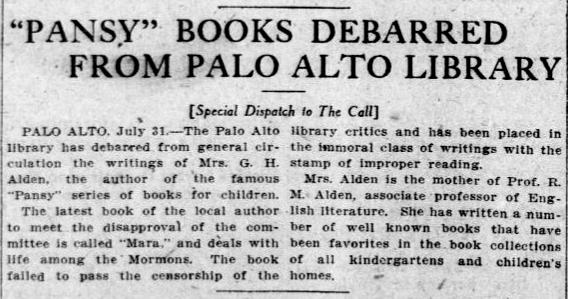 Article in the San Francisco Call on August 1, 1910