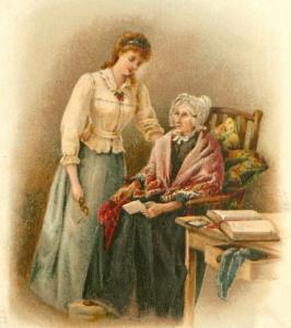 Aunt Hannah and Martha 1901
