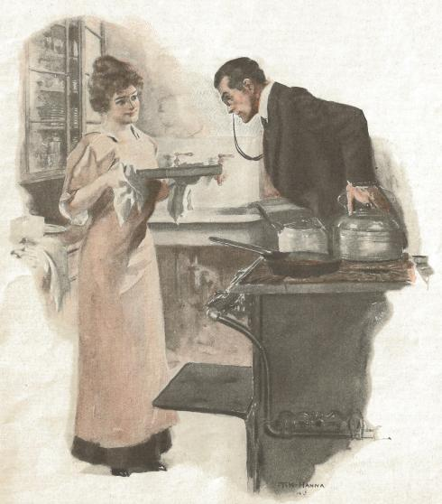 Aunt Hannah and Martha 1915 illustration