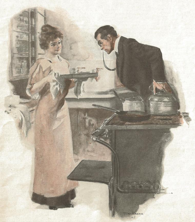 Aunt Hannah and Martha 1915 illustration
