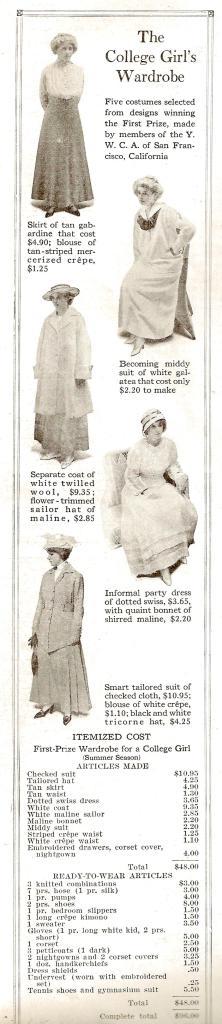 College Girls Wardrobe 1915 v2